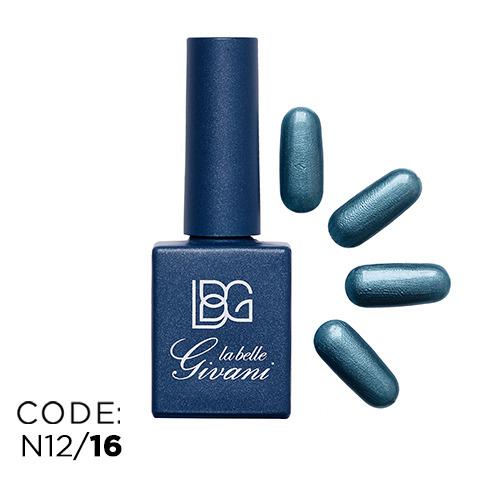 لاک آبی نقره ای صدفی مدل بریلانته 16 Brillante
